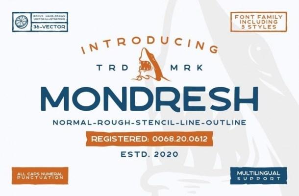 Mondresh Rough Sans Font