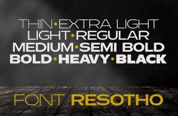 Resotho Extralight Sans Serif Font