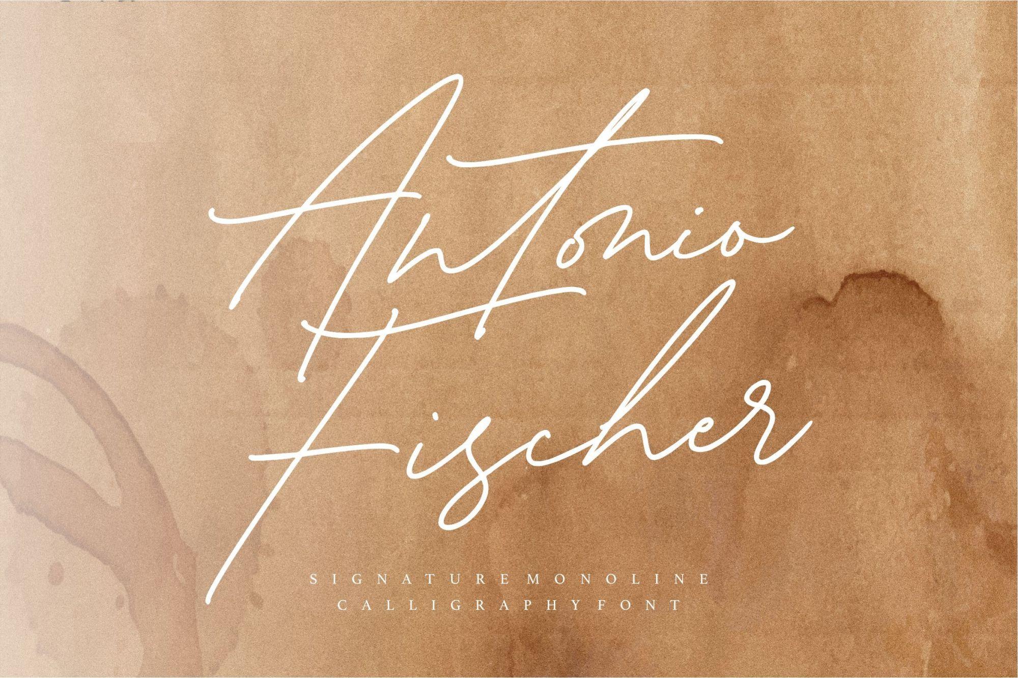 Antonio-Fischer-Signature-Monoline-Script-Font-1