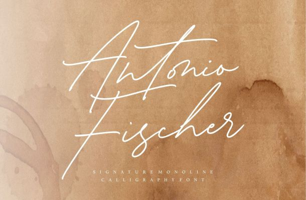 Antonio Fischer Signature Font