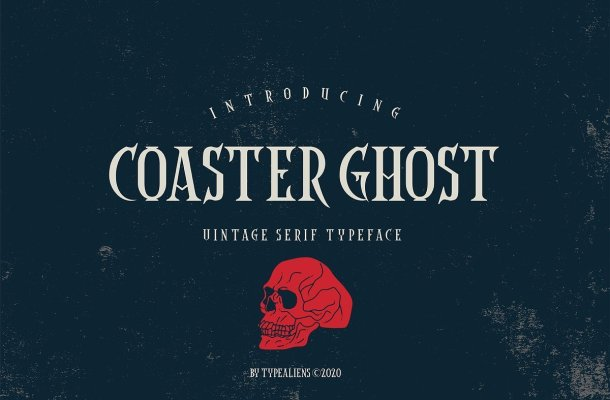 Coaster Ghost Vintage Serif Font