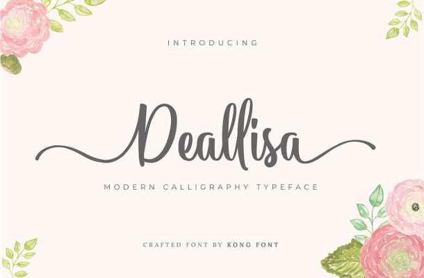 Deallisa Modern Callligraphy Font