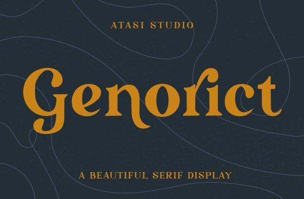 Genorict Serif Font