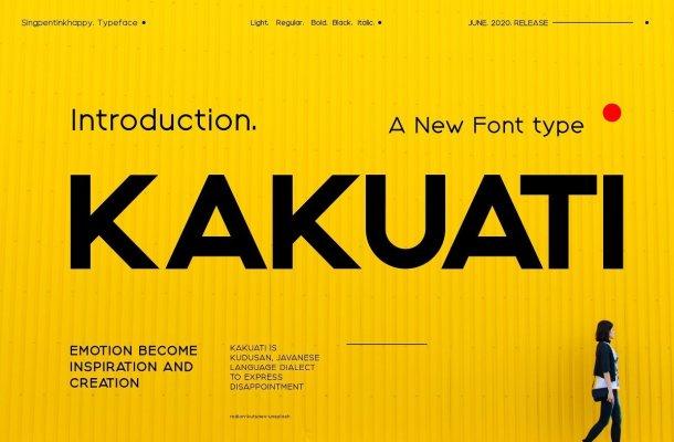 Kakuati Sans Serif Font