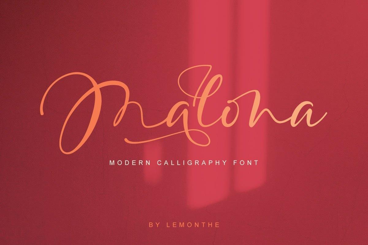 Malona-Calligraphy-Script-Font