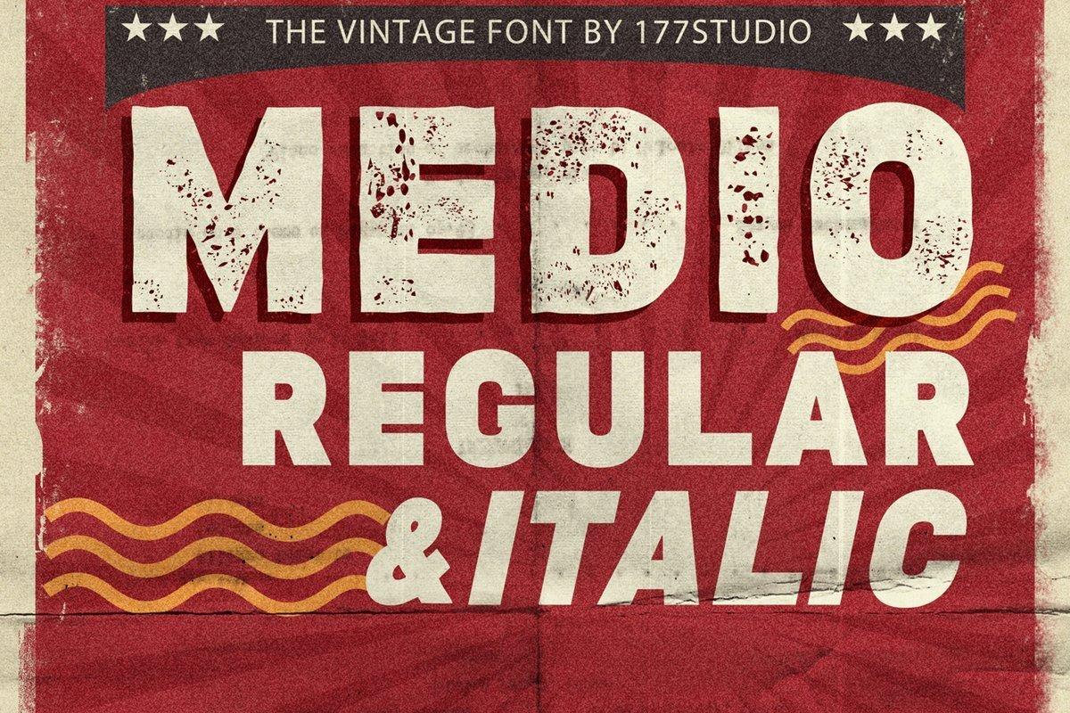 Medio-Vintage-Display-Font-1