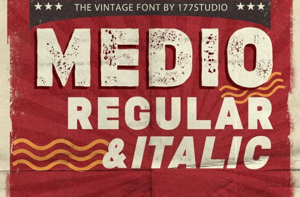 Medio Vintage Display Font