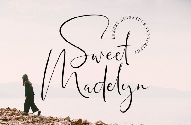 Sweet Madelyn Luxury Signature Font