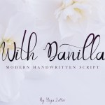 With Danilla Calligraphy Font