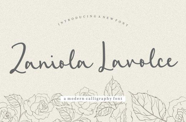 Zaniola Lavolce Handwritten Script Font