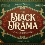 Black Drama Duo Extras Font