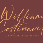 William Costinavel Handwritten Script Font