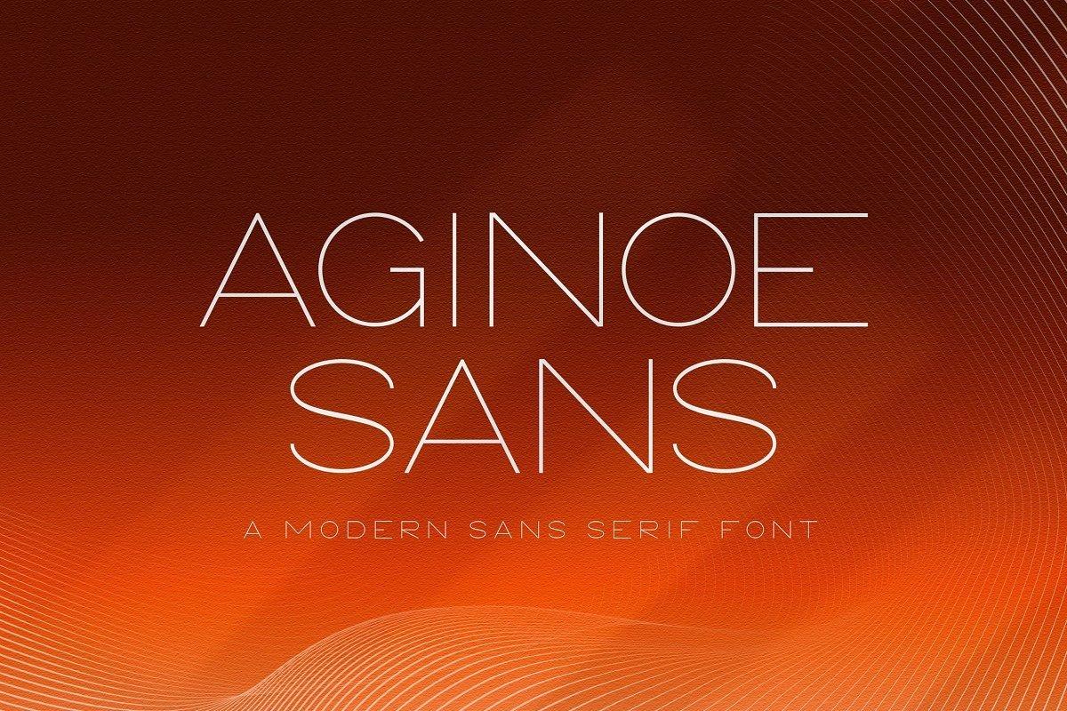 Aginoe-Modern-Sans-Serif-Font