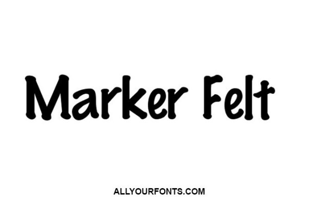 Marker Felt Font