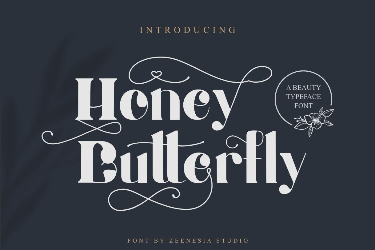 Honey-Batterfly-Display-Font-1