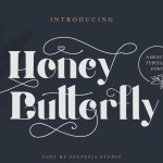 Honey Butterfly Font