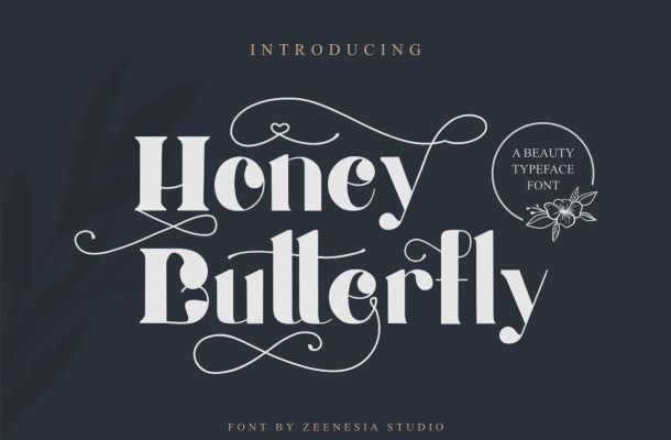 Honey Butterfly Font