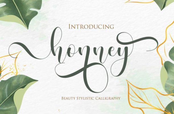 Honney Handwritten Script Font