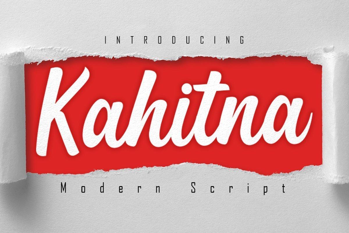 Kahitna-Modern-Script-Font