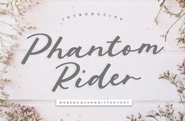 Phantom Rider Handwritten Font