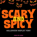 Scary and Spicy Display Font