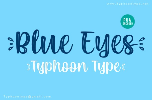 Blue Eyes Font