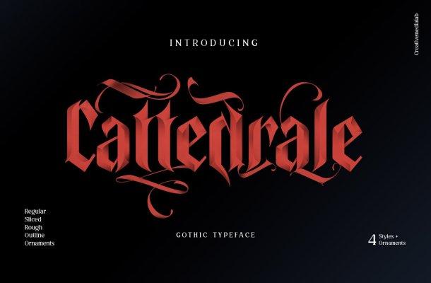 Cattedrale Gothic Blackletter Font