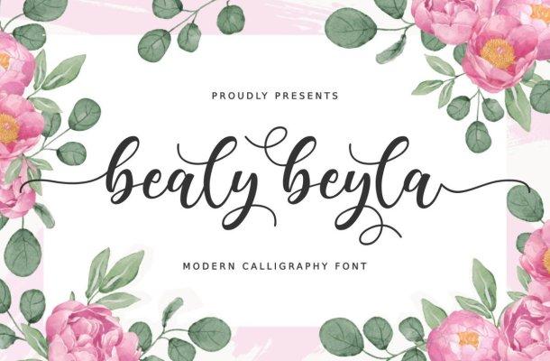 Bealy Beyla Font