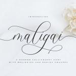 Maligai Modern Calligraphy Font