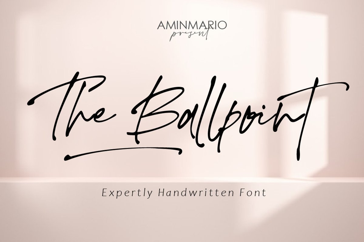 The-Ballpoint-Font