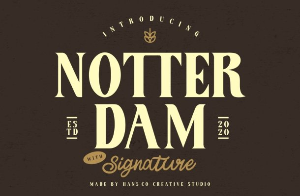Notter Dam Font
