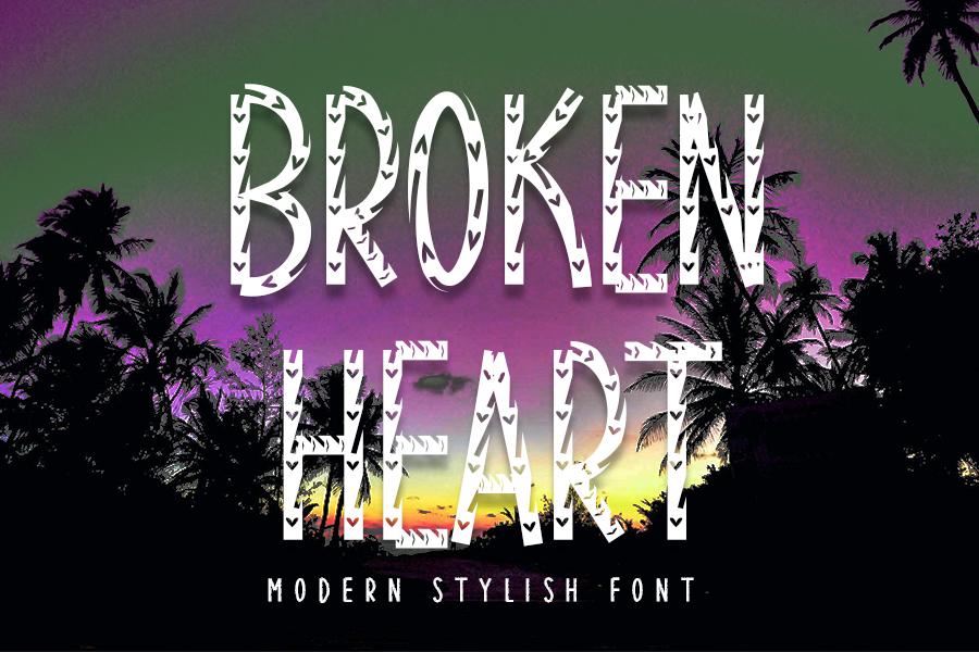 Broken-Heart-Font