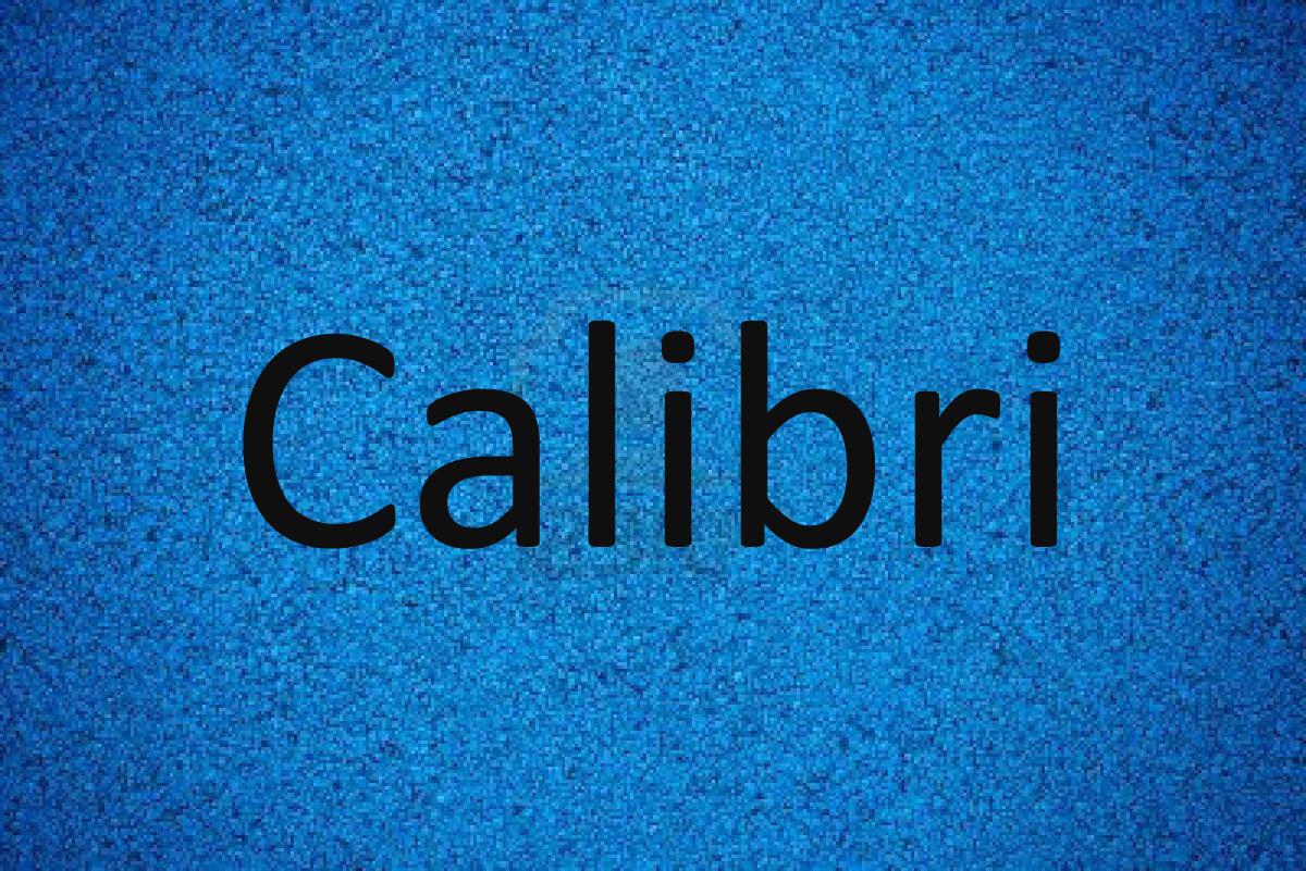 Calibri-Font