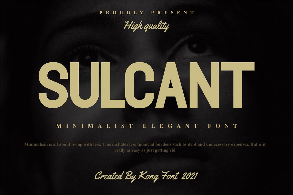 Sulcant-Font