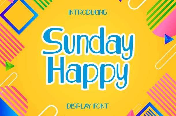 Sunday Happy Font