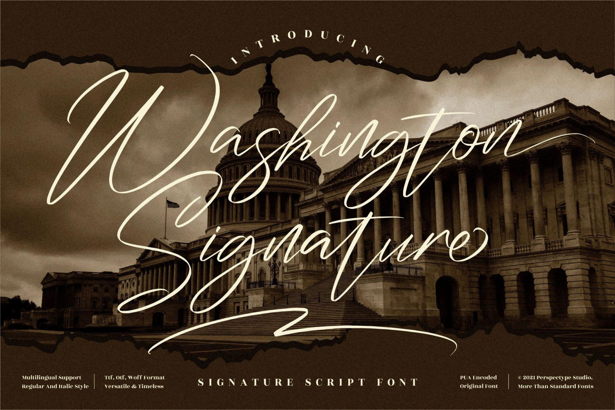 Washington-Font