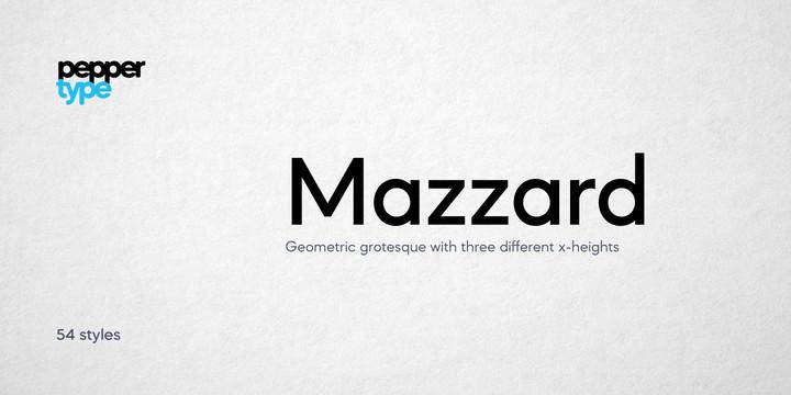 Mazzard-Font-Family