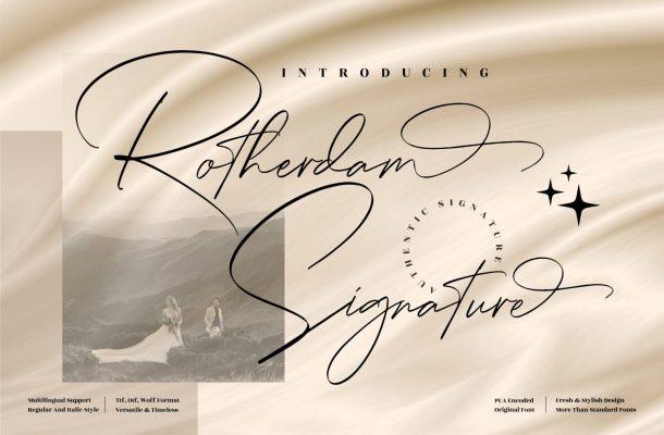 Rotherdam Signature Font