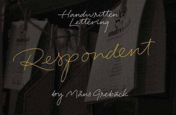 Respondent – 5 Handwriting Fonts