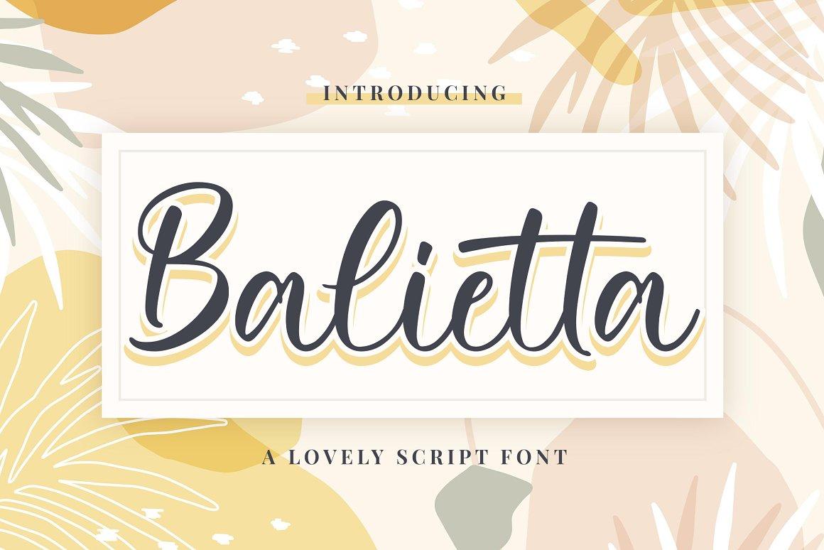 Balietta-Font