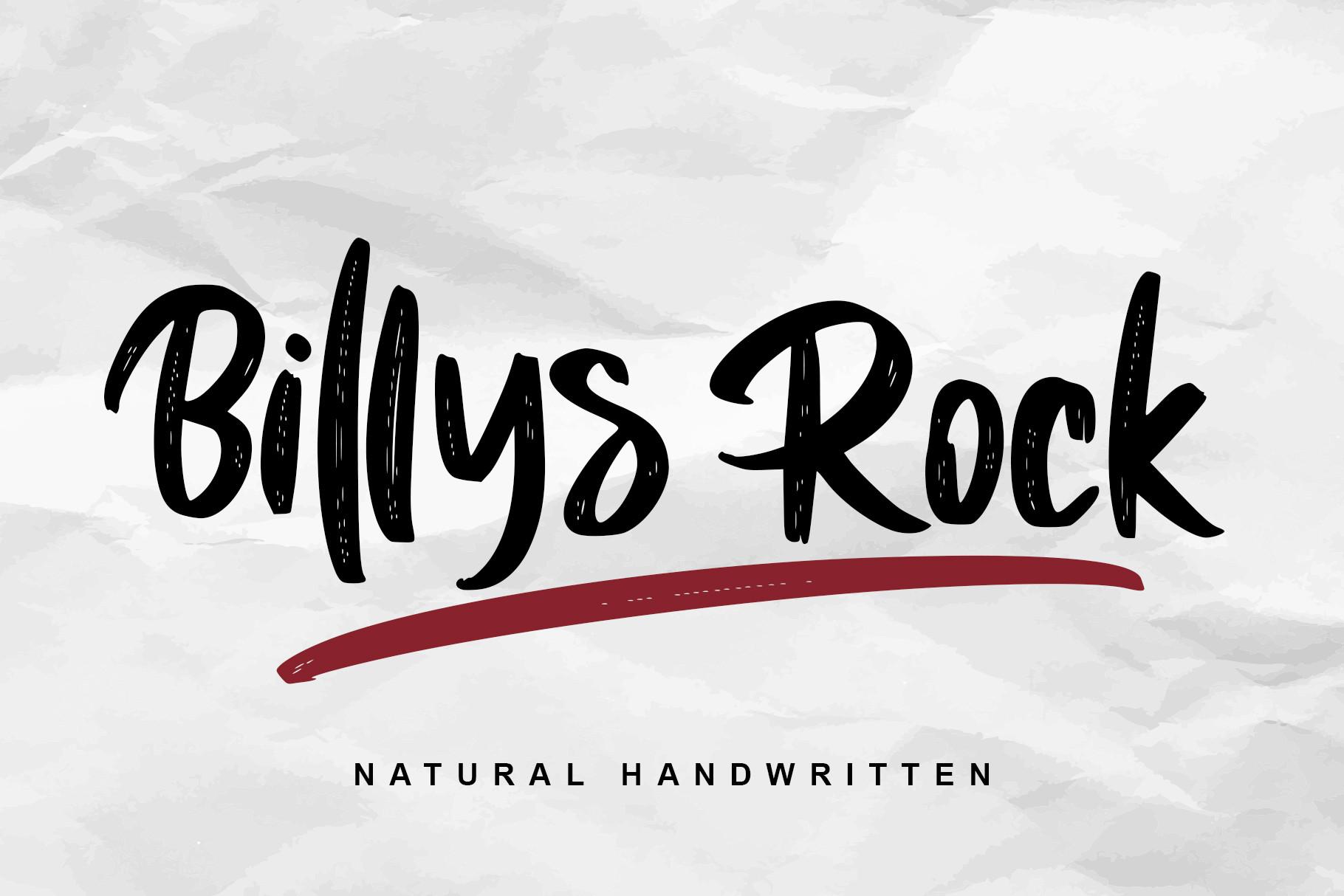 Billys-Rock-Font