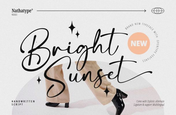 Bright Sunset Font