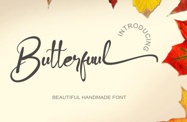 Butterfuul Script Font