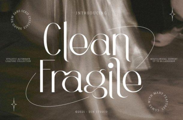 Clean Fragile Font