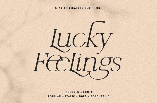 Lucky Feelings Font