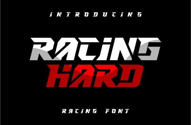 RACING HARD Font