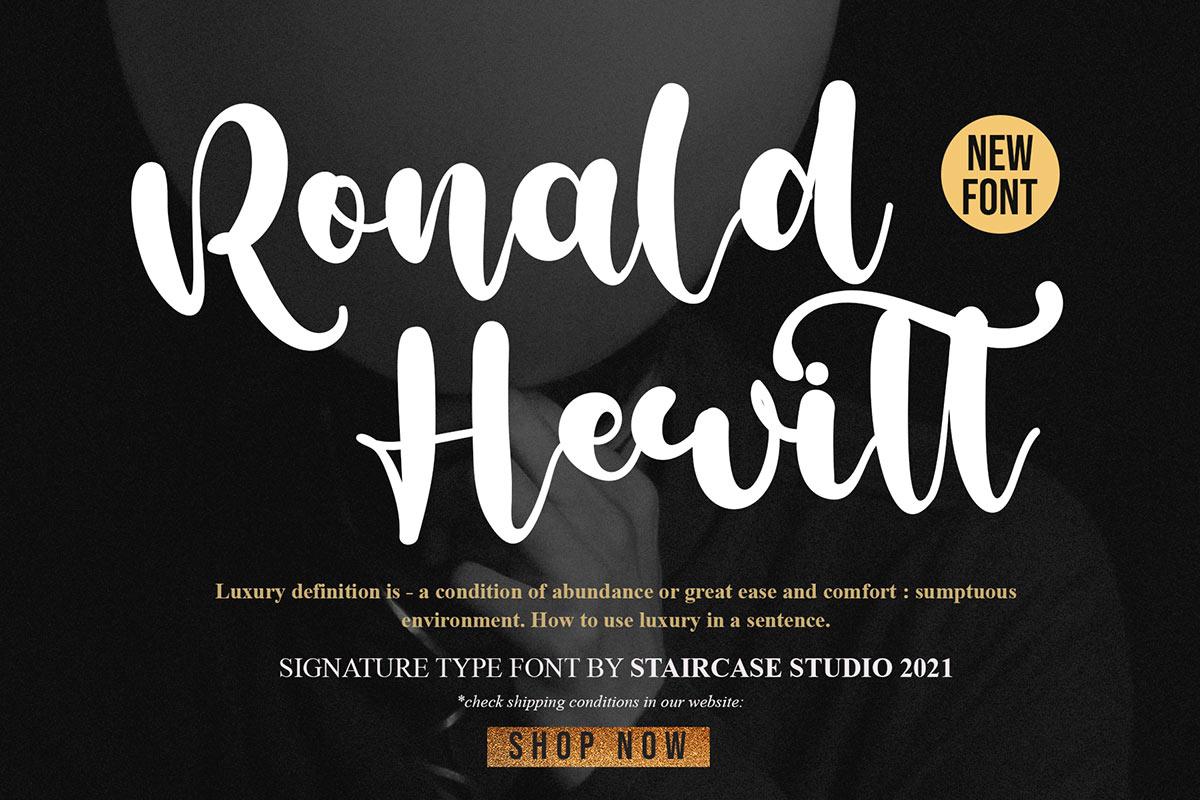 Ronald-Hewitt-Font