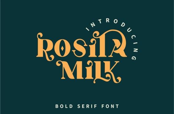 Rosita Milk Font