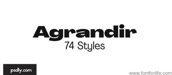 Agrandir Font Family