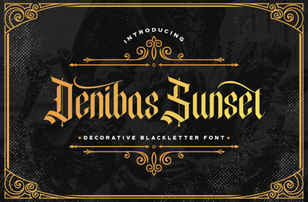 Denibas-Sunset-Font